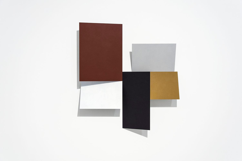 Cluster Relief (Esplanade Form), 2013, Acrylic on aluminium, 130 x 100 x 10 cm