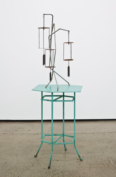 Orchard House Ghosts and Flowers, 2013, Painted steel, galvanised steel, rusted steel, 151 x 59 x 47 cm