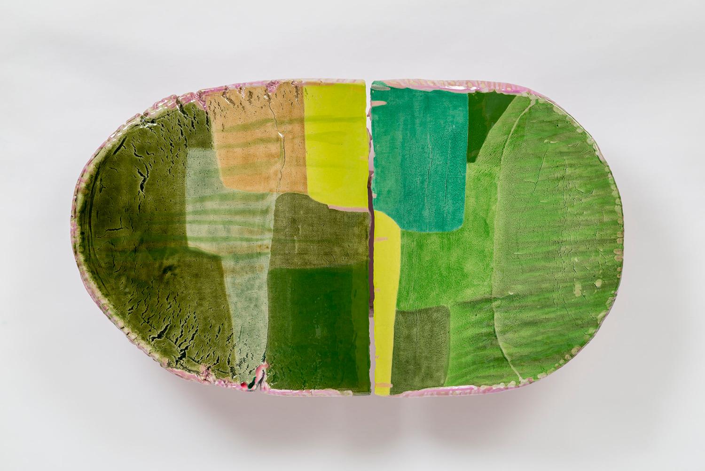 iv (inflexion), 2014- 2015, Ceramic, epoxy, pigment, 54 x 94.6 x 22.9 cm