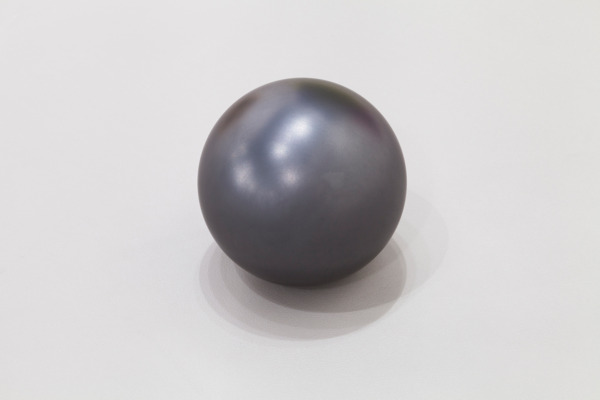 Untitled, 2015, Graphite sphere, 15.2 cm diameter, 6 in diameter