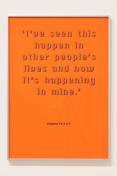 Quotations, 2005 (detail), Six xerox prints on paper, 84.1 x 59.4 cm each