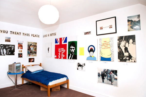 Open Bedroom, 1993-2012, Mixed media installation including paintings, and posters, Dimensions variable, Installation view, 'Joy In People', Hayward Gallery, London, 2012