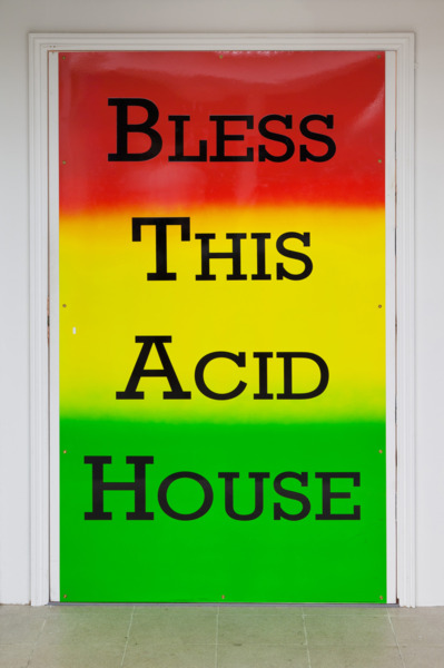 Bless This Acid House, 2012, Paint on metal door panel, Dimensions variable, Installation view, 'Joy In People', Hayward Gallery, London, 2012