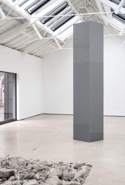 Tower, 2015, Lego, 360 x 66 x 66 cm, Installation view 'SORRY HAD TO DONE', The Modern Institute, Osborne Street, Glasgow, 2015