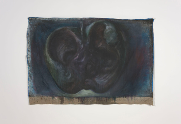 Dirk Bell, Bite, 2011, Acrylic, emulsion and pastel on canvas, 150 x 214 cm