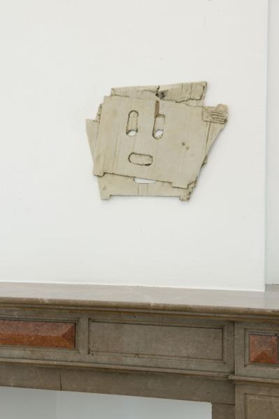 Mask, 2011, Polyester resin fiberglass, resin cast, 44.2 x 48.6 x 2 cm