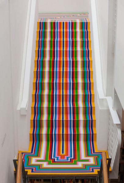 Jim Lambie, Zobop Colour, 1999/2014, Vinyl tape, Dimensions Variable, Installation view, Fruitmarket Gallery, Edinburgh, 2014