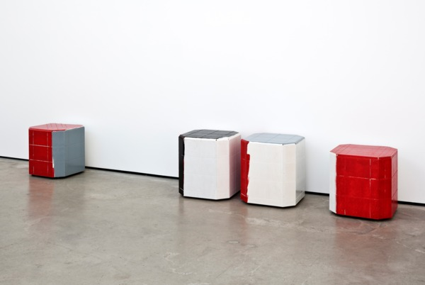 Manfred Pernice, <anexo>,  2013, Various woods, enamel paint, varnish, Dimensions variable