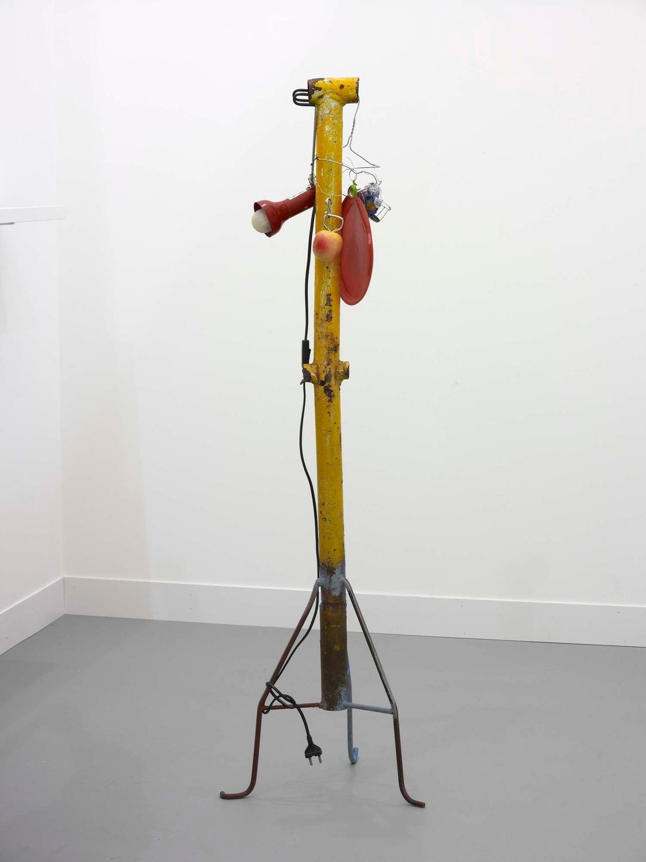 Lampe'dusa, 2010, Metal, plastic, 120 x 30 x 30 cm