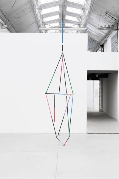 A Lantern, 2015, Aluminium, paint, steel rings, Dimensions variable