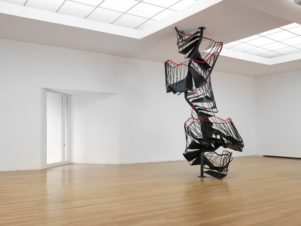 Stairway, 2010, Metal, PVC, 550 cm height, Installation view 'Architectonisation', Serralves Foundation, Porto, 2015
