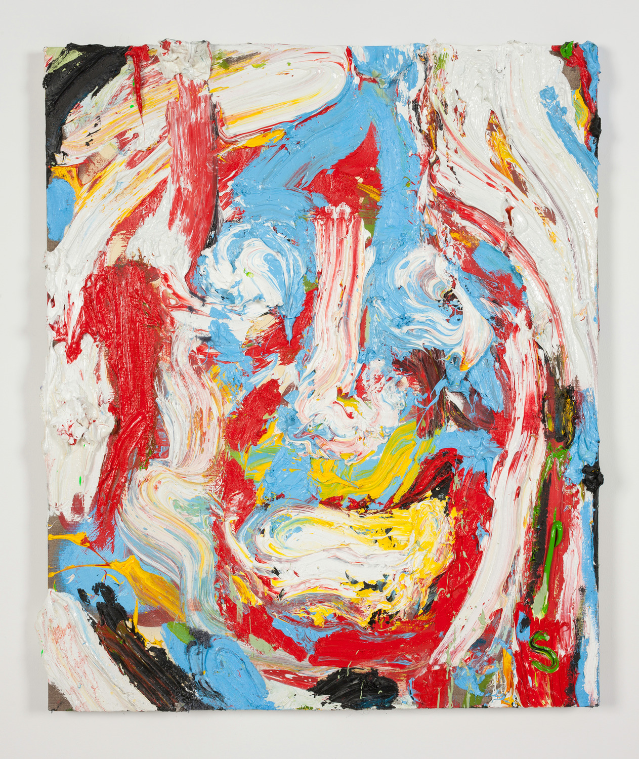 Face, 2014, Oil on linen, 92 x 81.5 x 9 cm