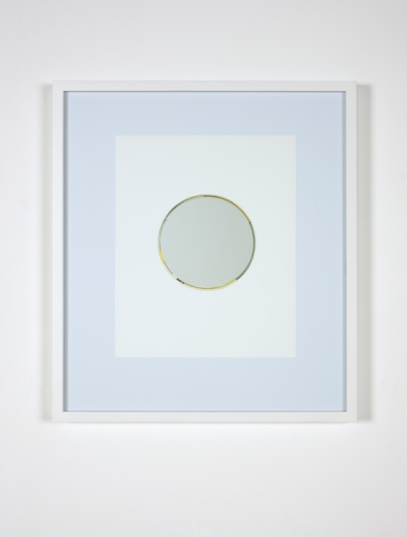 After Lichtenstein 16, 2012, Catalogue page, etched mirror, 50 x 43 x 3.5 cm