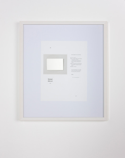 After Richter 5, 2011, Catalogue page, etched mirror, 49.5 x 43.5 x 2.5 cm