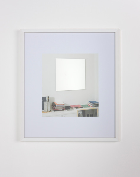 After Richter 7, 2011, Catalogue page, etched mirror, 49.5 x 43.5 x 2.5 cm