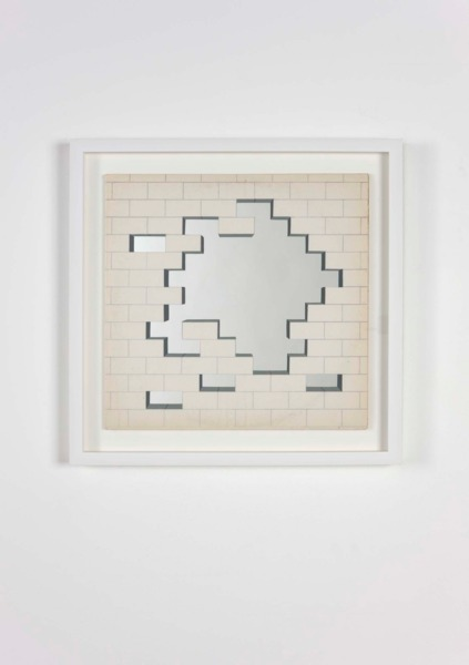 The Wall (34 of 91), 2010, Found record sleeve, etched mirror, paint, frame, 40 x 40 x 2.7 cm