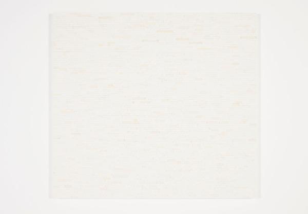 White Wall 9, 2013, White lego, aluminium frame, 100.5 x 92.5 x 3 cm