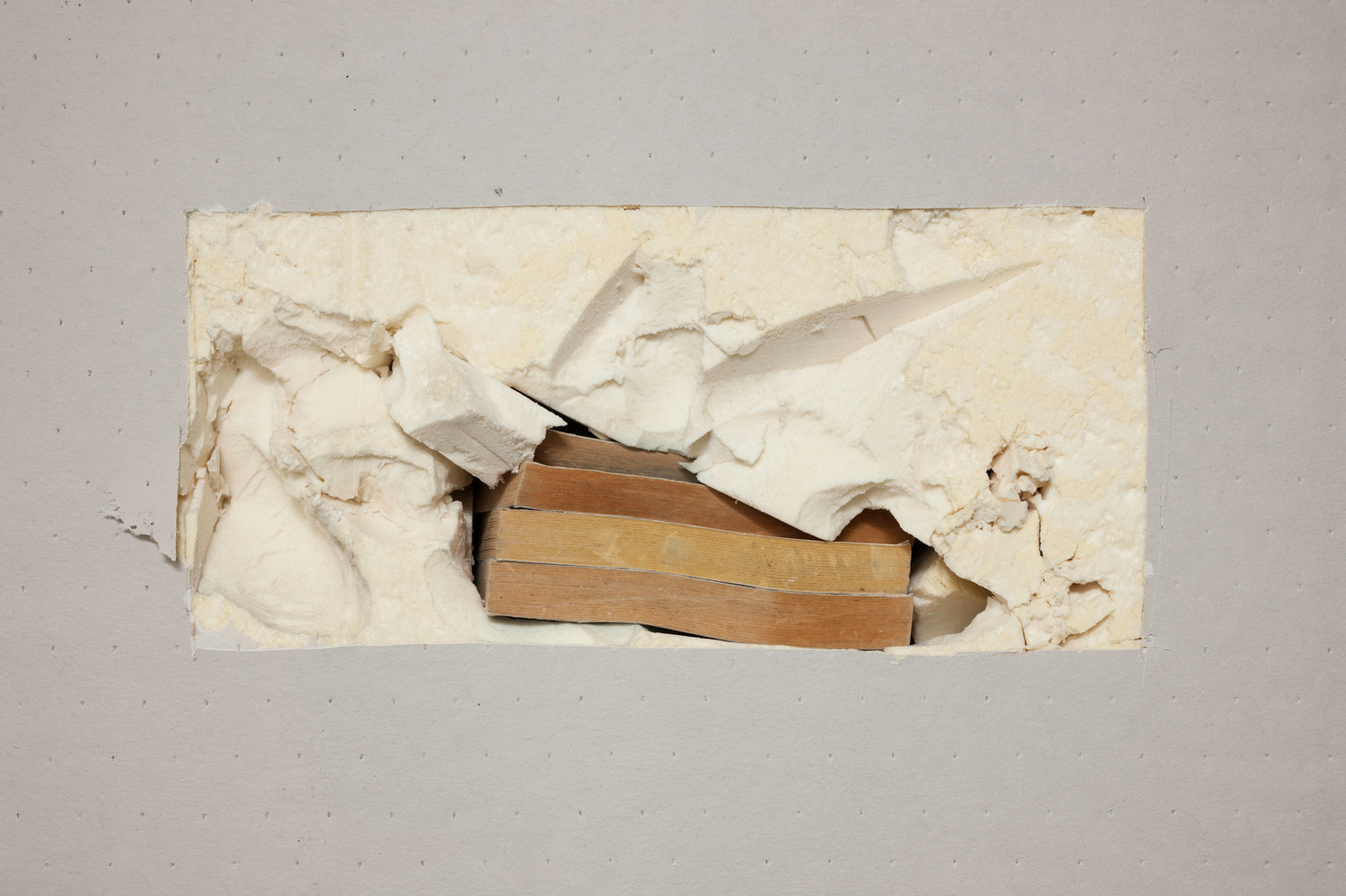 Untitled (Data Idea), 2014, Polyurethane foam, books, 240 x 240 cm; Installed dimensions variable
