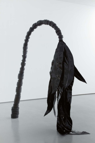 Wandering Palm, 2011, Jesmonite, aluminium, patent leather, 255 x 236 x 85 cm