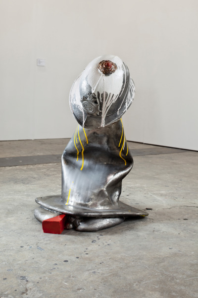 Beatprop, 2011, Stainless steel, enamel paint, 61 x 61 x 66 cm, Edition of 3