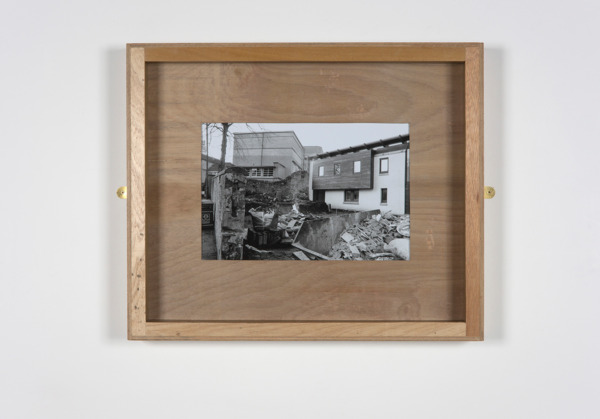 Untitled (Notre Dame), 2010, Plywood, glass, brass mirror plates, B&W photograph, 60.5 x 72.5 x 6.5 cm