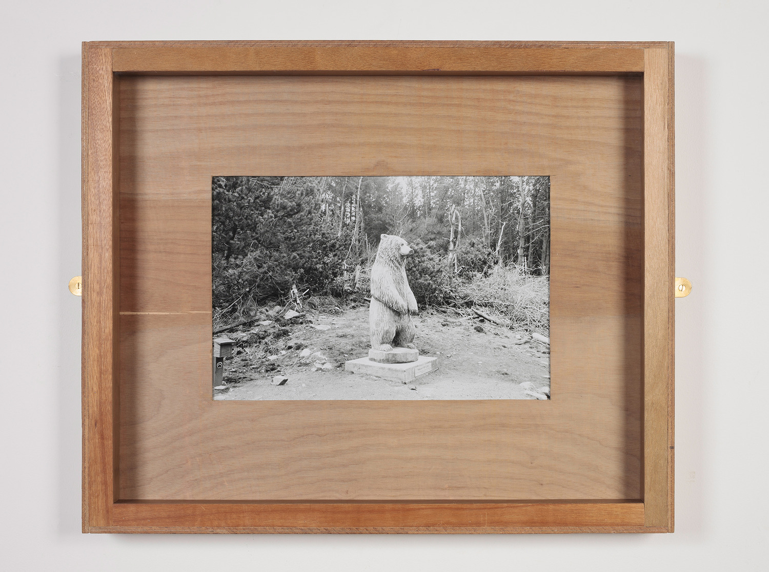 Untitled (Hercules), 2014, Plywood, glass, brass mirror plates, B&W photograph, 60.5 x 72.5 x 6.5 cm