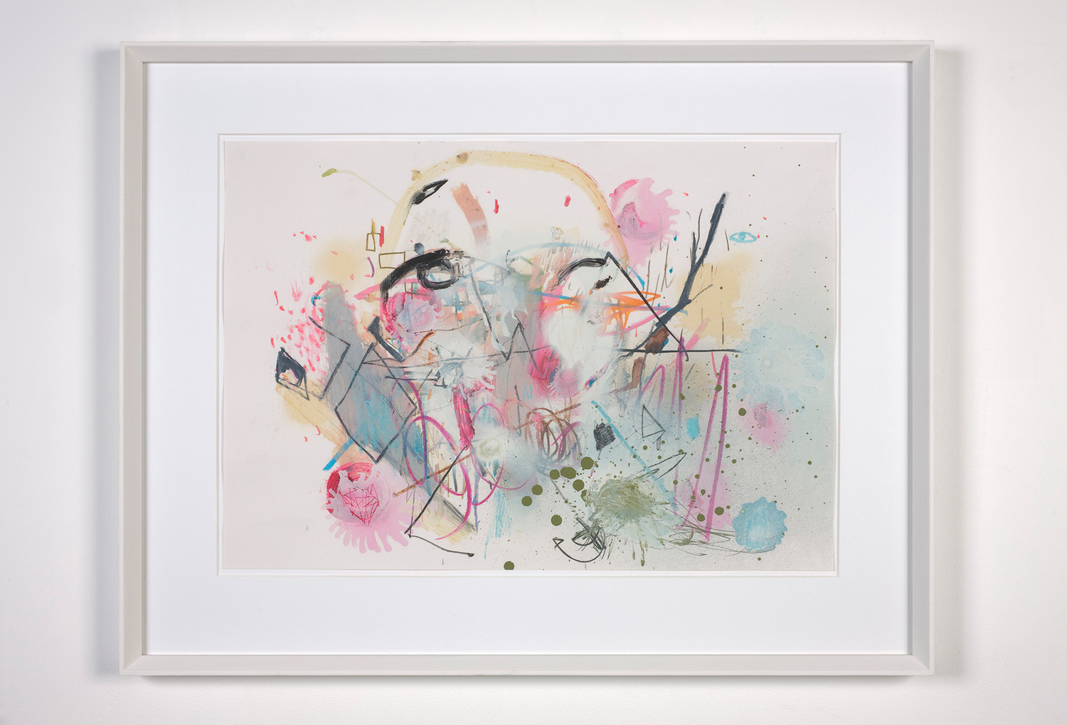 Untitled, 2012, Pencil, pastel, oil bar and spray-paint on paper, 61.5 x 78.5 x 3 cm