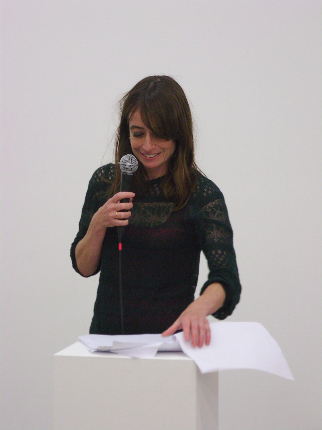 Performance documentation, Letherin through the grille, 2013, Performed at 'Expressions', The Modern Institute, Aird's Lane, Glasgow, 2013