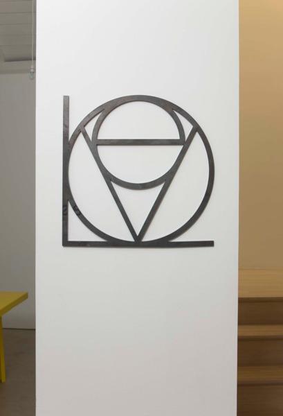 Dirk Bell, EVOLOVE, 2007, Steel, 40 x 40 cm
