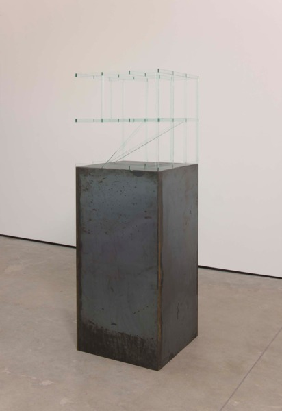 Dirk Bell, 2FREE, 2010, Glass sculpture on steel pedestal, 120 x 60 x 60 cm pedestal, 60 x 60 x 60 cm top