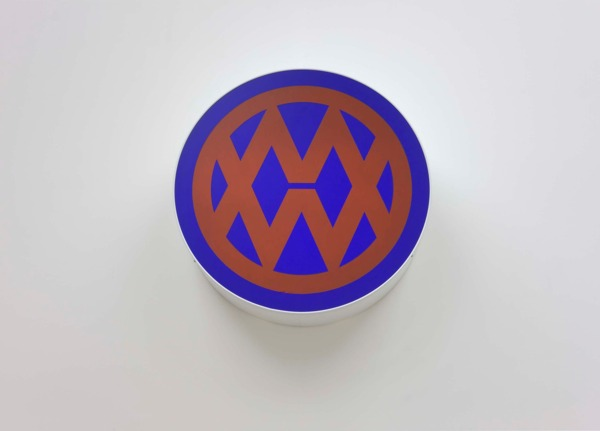 Dirk Bell, New Men 2010, Lightbox, foil, 66 cm (diameter); 19 cm (depth)