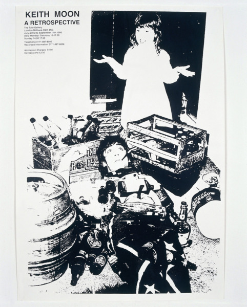Jeremy Deller, Keith Moon A Retrospective, 1995, Silkscreen on paper, 61 x 44.5 cm, Edition of 4 + 1 AP