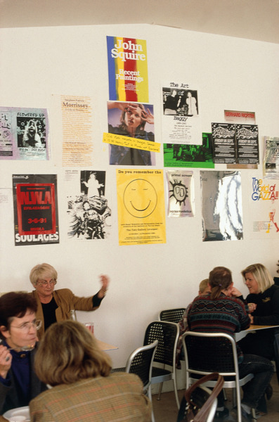 Posters, 1994- 1996. Installation in the cafeteria of Musée d'Art Moderne de la Ville de Paris