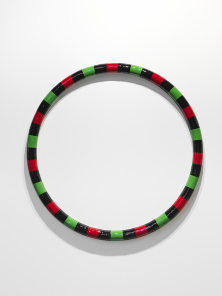 RubberRing (red and green), 2010, Steel, fibreglass, jesmonite, acrylic paint, varnish, Diameter 110 cm, depth 10 cm