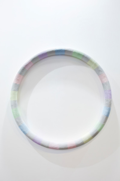 Good Times (Ghost), 2012, Aluminium, fibreglass, jesmonite, plaster, fabric, acrylic paint, varnish, 115 cm diameter x 19 cm
