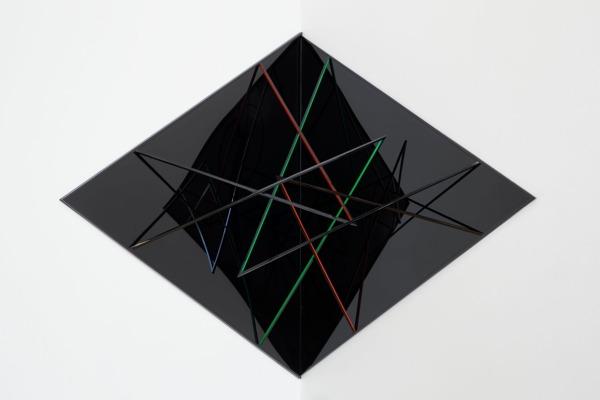 Restless I, 2014, Aluminium, perspex, paint, 204 x 154 x 134 cm