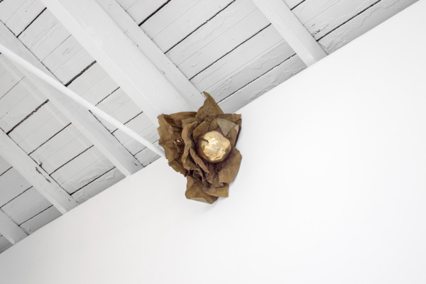 Solange Pessoa, Untitled, 1999, Bronze and leaves, 40 x 35 x 20 cm