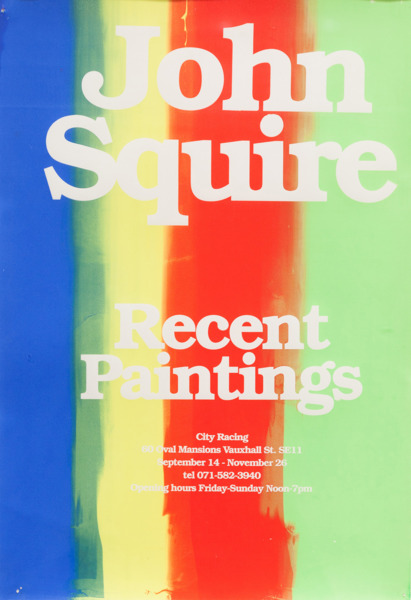 Jeremy Deller, John Squire: Recent Paintings, 1995, Silkscreen on paper, 60 x 41.5 cm, Edition of 3 + 1 AP