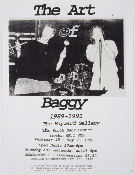 Jeremy Deller, The Art of Baggy, 1995, Silkscreen on paper, 60.5 x 46 cm, Edition of 3 + 1 AP