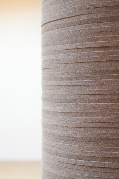 Spalte, 2012, Felt column, 261.6 x 29.7 cm