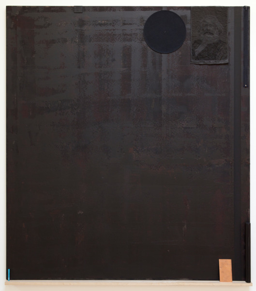 '68 Series–Students occupy the courtyard of the Sorbonne., 2012, Blackboard paint, acrylic paint, linen, 2