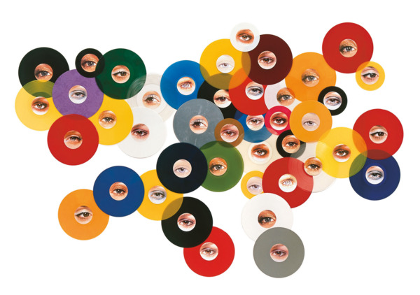 Funkadelic, 2002, Coloured vinyl records, 150 x 250 cm