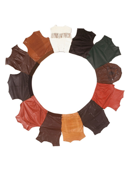 Digital (New York), 1999, Leather jackets, 271 cm diameter