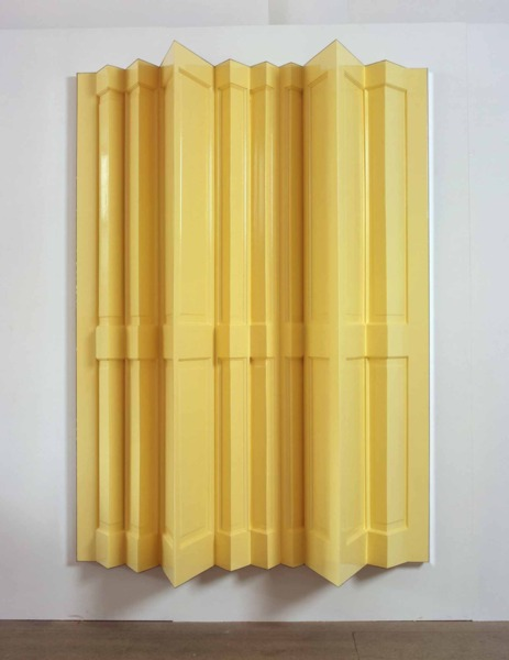 The Doors (Love me two times), 2005, Wooden door, mirrors, gloss paint, 199 x 142 x 42.5 cm