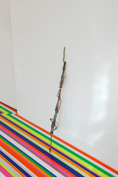 Psychedelic Soul Stick 69, 2008, Bamboo, thread, 10 x 110 x 10 cm