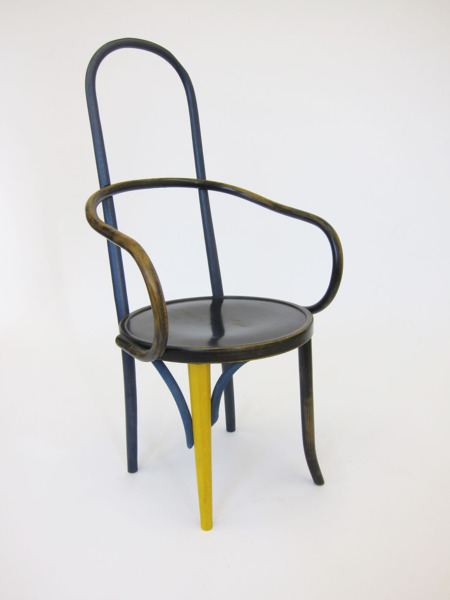 High - Mundus, 2013, Appropriated mundus chair, 116 x 56 x 60 cm