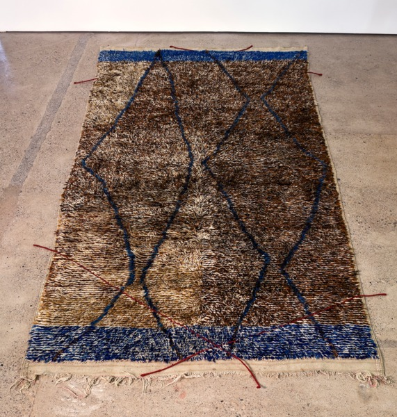 Moroccan Crossings #01, 2013, Wool, embroidery, 354 x 185 cm