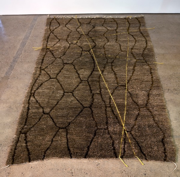 Moroccan Crossings #02, 2013, Wool, embroidery, 380 x 208 cm