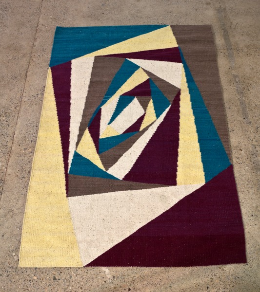 Twistings While Woven, 2013, Woven wool carpet, 215 x 129 cm