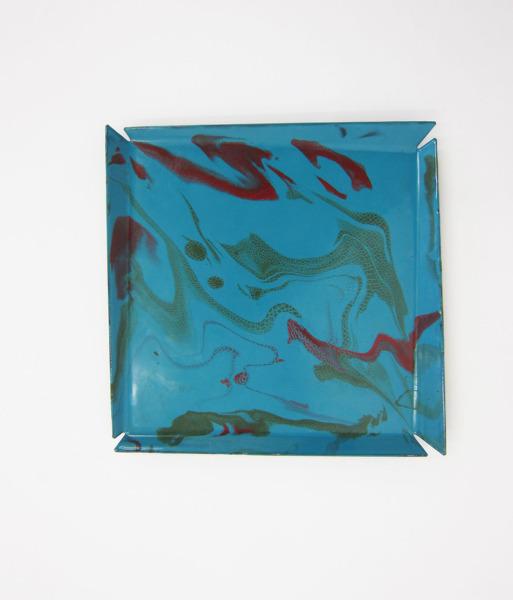 Tutti - Frutti Tray #02, 2013, Steel, enamel, 3 x 23 x 23  cm